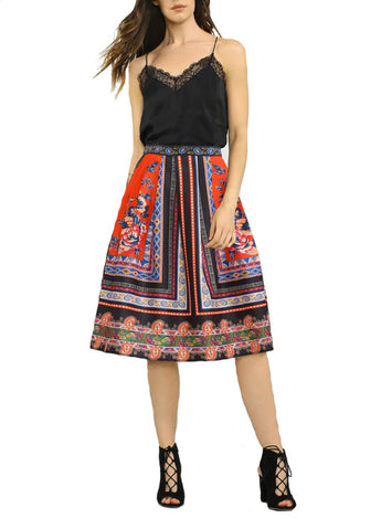 Boho Eclectic A-Line Skirt