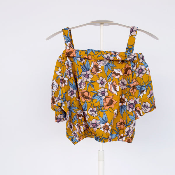 European Floral Blouse