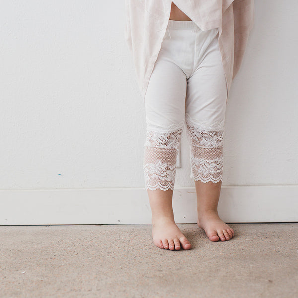 Peek-a-Boo Lace Leggings