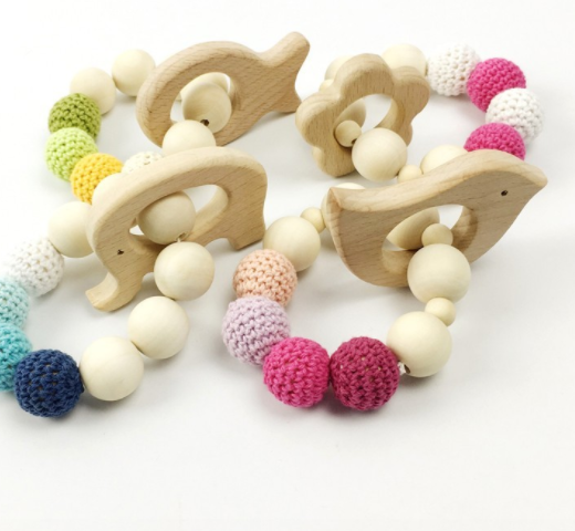 Wooden Crochet Baby Toy