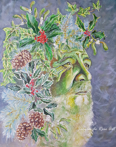 Limited Edition - Signed - Giclee Print  - A - The Holly King