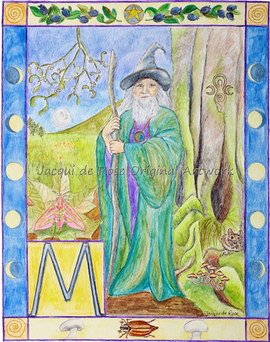 Original Painting - Folklore Alphabet - M