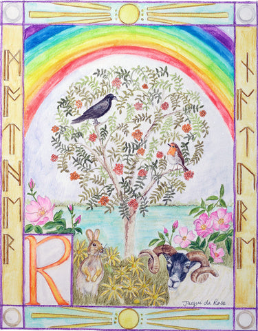 Original Painting - Folklore Alphabet - R