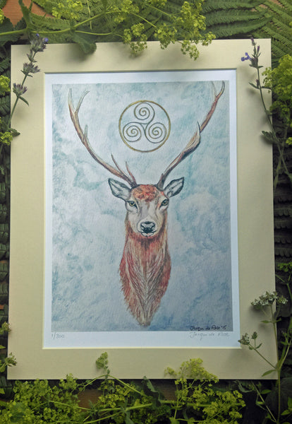 Limited Edition - Signed - Giclee Print - Celtic Stag