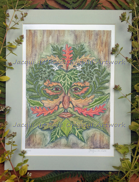 Limited Edition - Signed - Giclee Print - Green Man