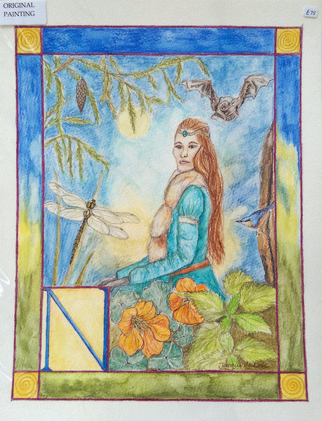 Original Painting - Folklore Alphabet - N