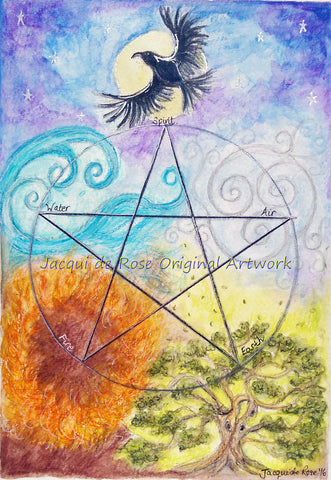 "Card - 7 x 5"" - Pagan - Pentagram"