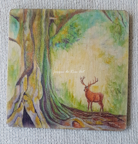 Wooden hand-finished coaster - The Mother Tree