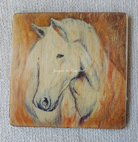 Wooden hand-finished coaster - Summerlands