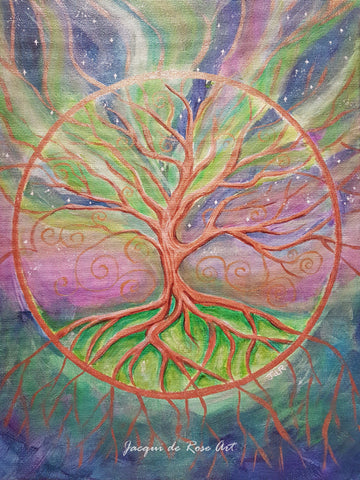 Limited Edition - Signed - Giclee Print  - A - Tree of Life - Universal Connection