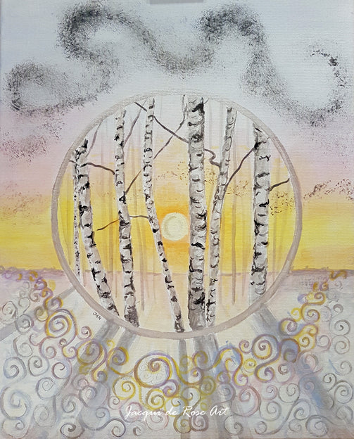 "Card - 7 x 5"" - A - Tree of Life - Winter Solstice"