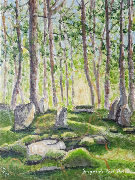 Limited Edition - Signed - Giclee Print  - A - Doll Tor Stone Circle