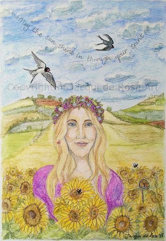 Original Painting - P - Litha, Summer Blessings
