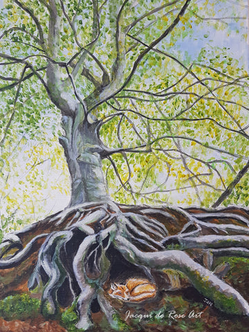 Limited Edition - Signed - Giclee Print  - A - Tree, Whatstandwell Beech