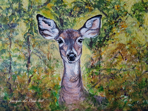 "Card - 7 x 5"" - z - Animal - Woodland Doe"