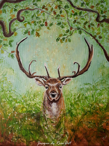 Limited Edition - Signed - Giclee Print  - Totem Animals - Woodland Stag
