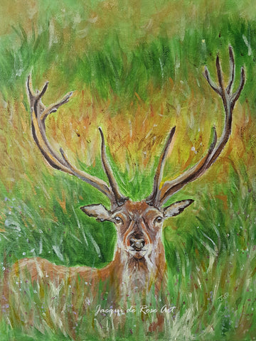 Limited Edition - Signed - Giclee Print  - Totem Animals - Summer Stag