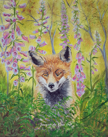 Limited Edition - Signed - Giclee Print  - Totem Animals - Fox - Lazy Summer days