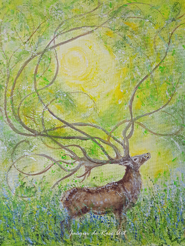 Limited Edition - Signed - Giclee Print  - Totem Animals - Deer Spirit