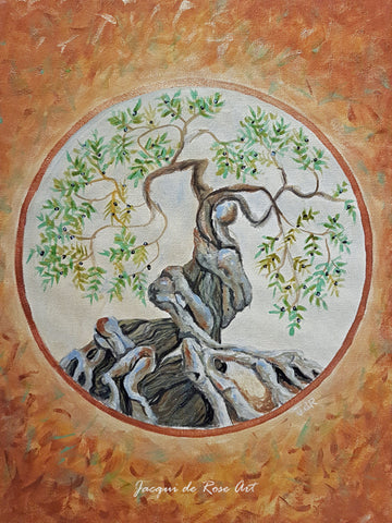 Limited Edition - Signed - Giclee Print  - A - Tree of Life - Olive