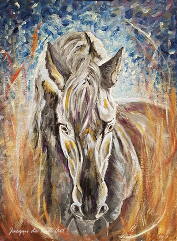 Limited Edition - Signed - Giclee Print  - Totem Animals - Horse - Strength