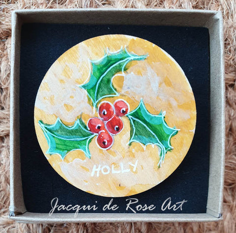 Celtic Tree Calendar Brooch - 8 - Holly - Jul 8 to Aug 4