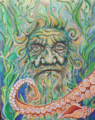 Limited Edition - Signed - Giclee Print  - A - The Water Elemental / Sea God