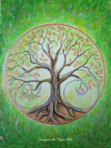 "Card - 7 x 5"" - A - Tree of Life - Oak"