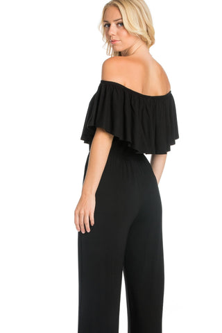 Ruffled Off Shoulder Jumpsuit