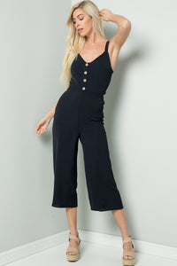 Tie-Back Cami Jumpsuit - Navy