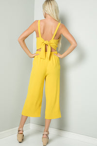 Tie-Back Cami Jumpsuit - Sunshine