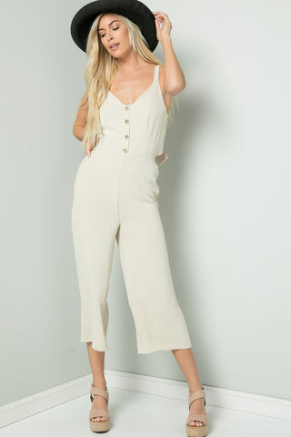 Tie-Back Cami Jumpsuit - Nature