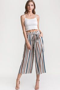 Multi Stripe Cropped Pants
