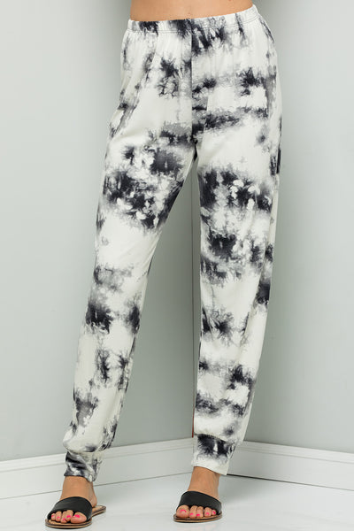 Tie Dye Print Pants (2 colors)