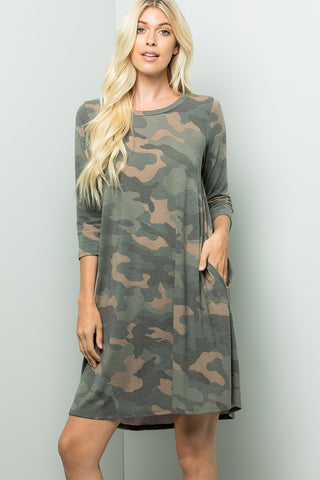 Camouflage Print Dress