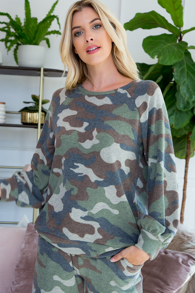 Camouflage Pullover Top (2 colors)