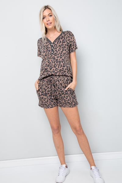 Leopard Print Top - Brown