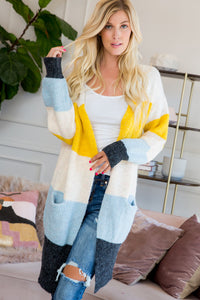 Color Block Sweater Cardigan
