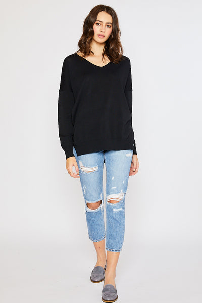 Lightweight Spring Sweater - Black