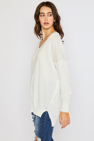 Lightweight Spring Sweater - Ivory