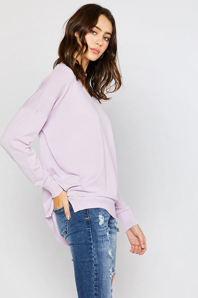 Lightweight Spring Sweater - Lavender