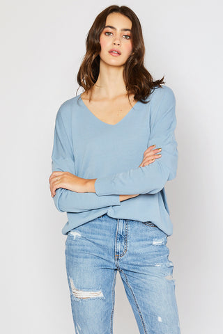 Lightweight Spring Sweater - Misty Blue