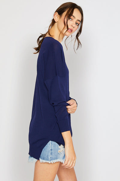 Lightweight Spring Sweater - Navy