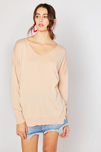 Lightweight Spring Sweater - Nude
