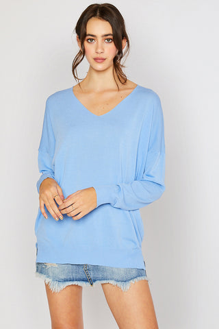Lightweight Spring Sweater - Serenity Blue