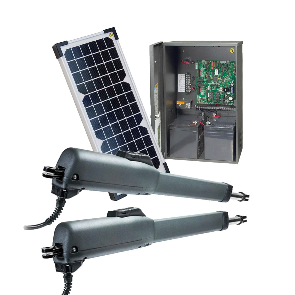 Doorking 6005 Dual Swing Gate Opener Solar Package
