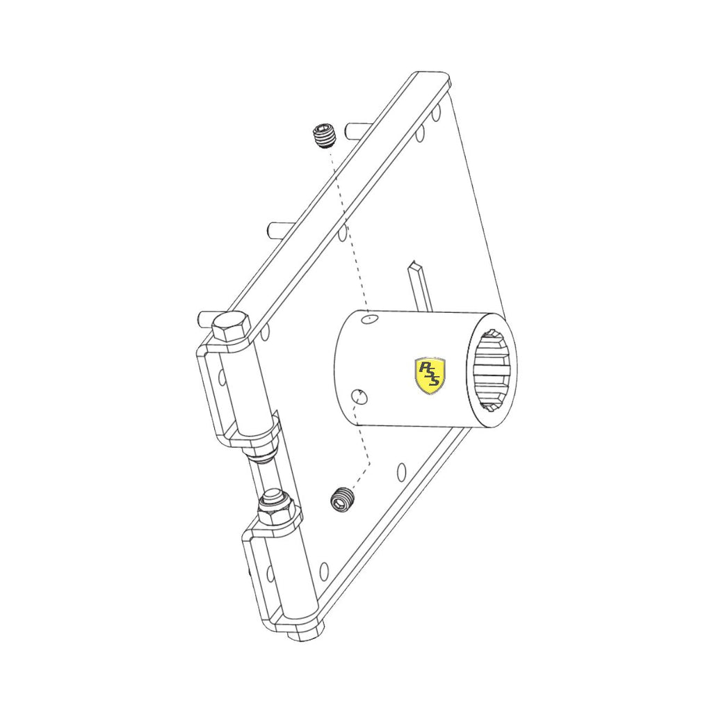 HySecurity MX3680 Breakaway Arm Bracket Assembly