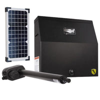 US Automatic Patriot I gate opener with a solar panel