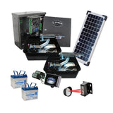 Platinum UGP712-MSK-BSO Dual Swing Gate Openers Solar Package With Accessories