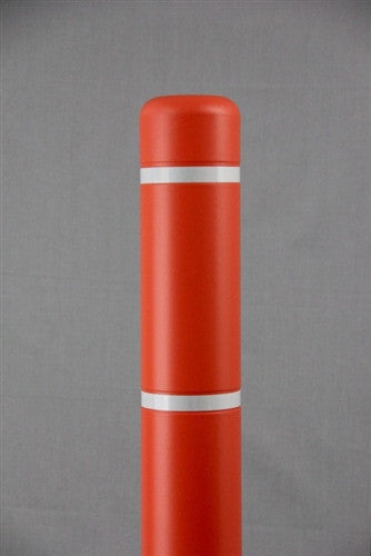 "Bollardgard 4"" x 52"" Orange Bollard Cover with White Reflective Tape"
